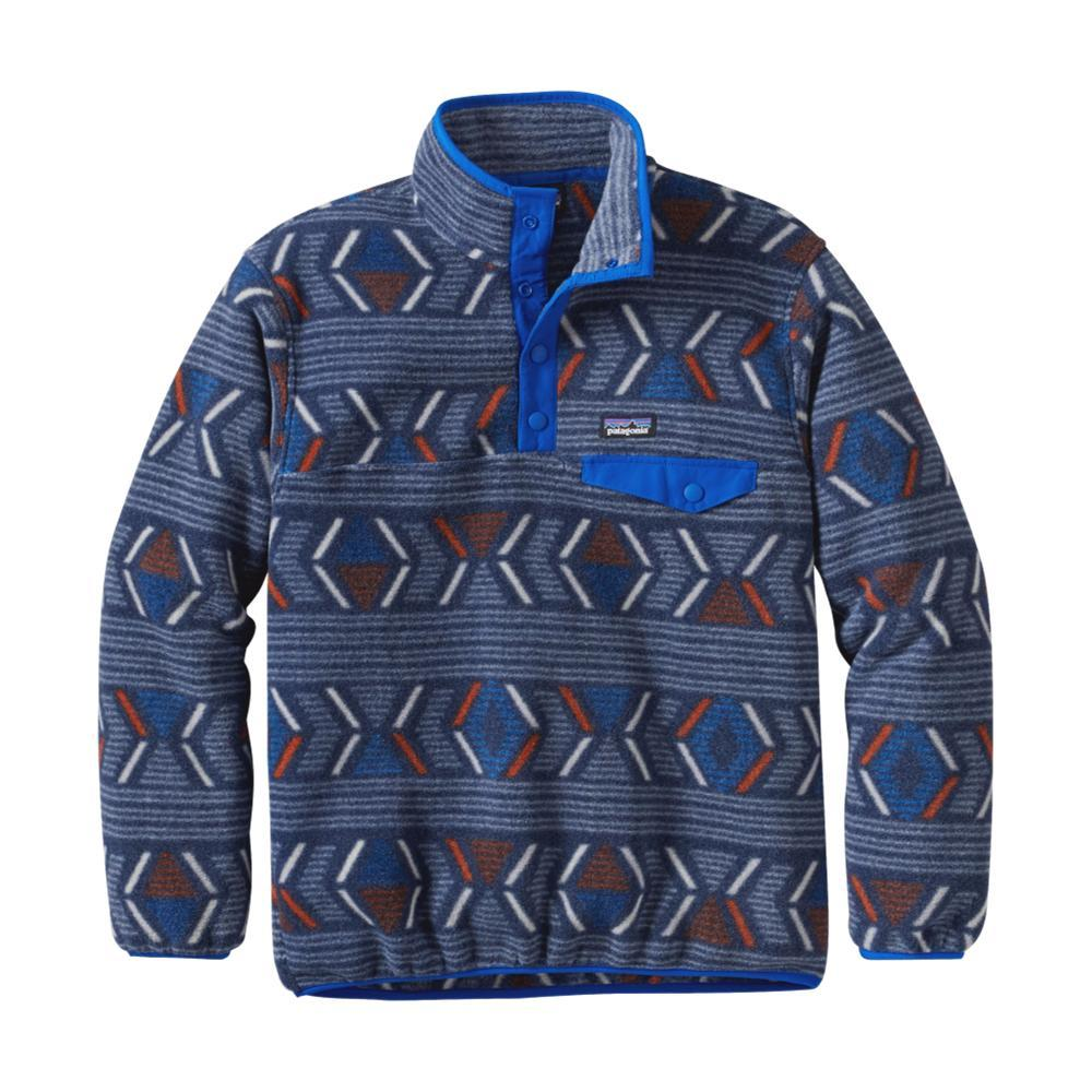 Patagonia Boys Lightweight Synchilla Snap-T Pullover BLUELYVB