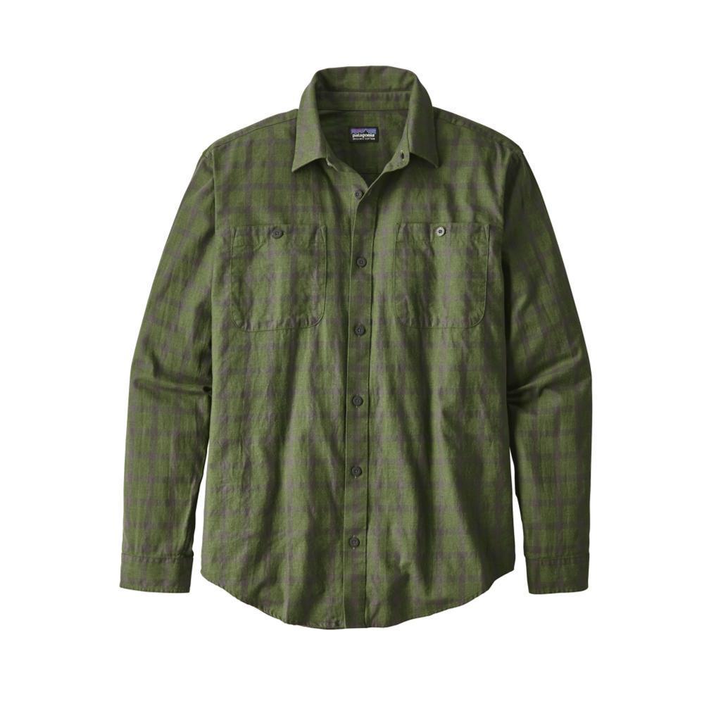 Patagonia Men's Long-Sleeved Organic Pima Cotton Shirt LPBF_GREEN