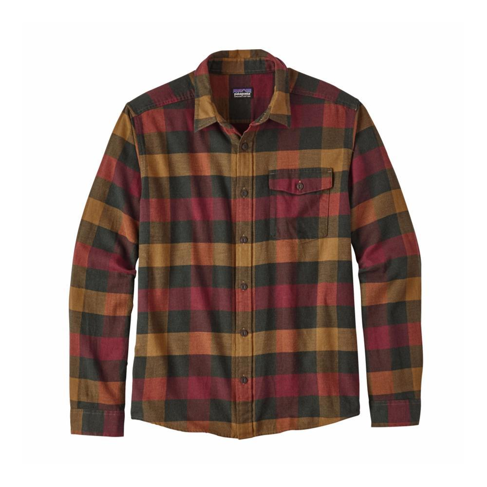 Patagonia Men's Lightweight Fjord Flannel Shirt URDR_RED