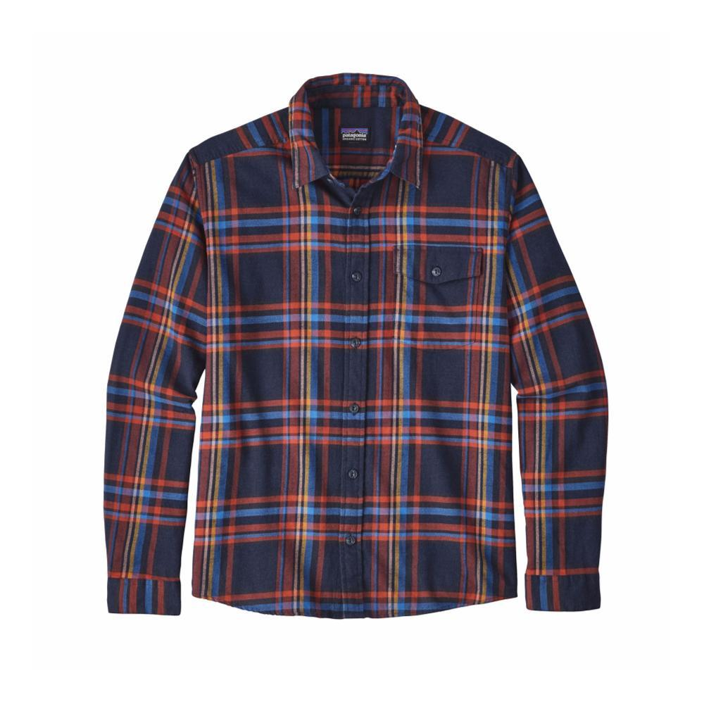 Patagonia Men's Lightweight Fjord Flannel Shirt WSNV_BLUE