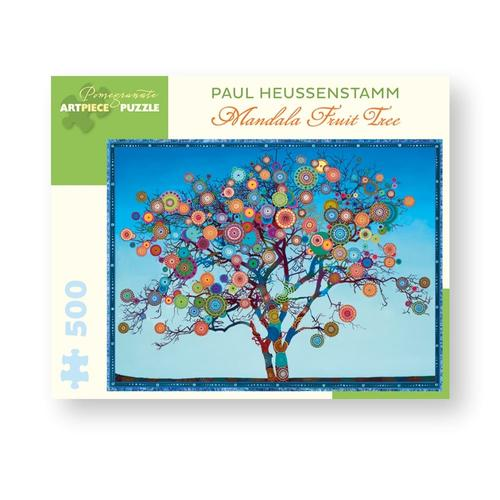 Pomegranate Paul Heussenstamm: Mandala Fruit Tree 500-Piece Jigsaw Puzzle