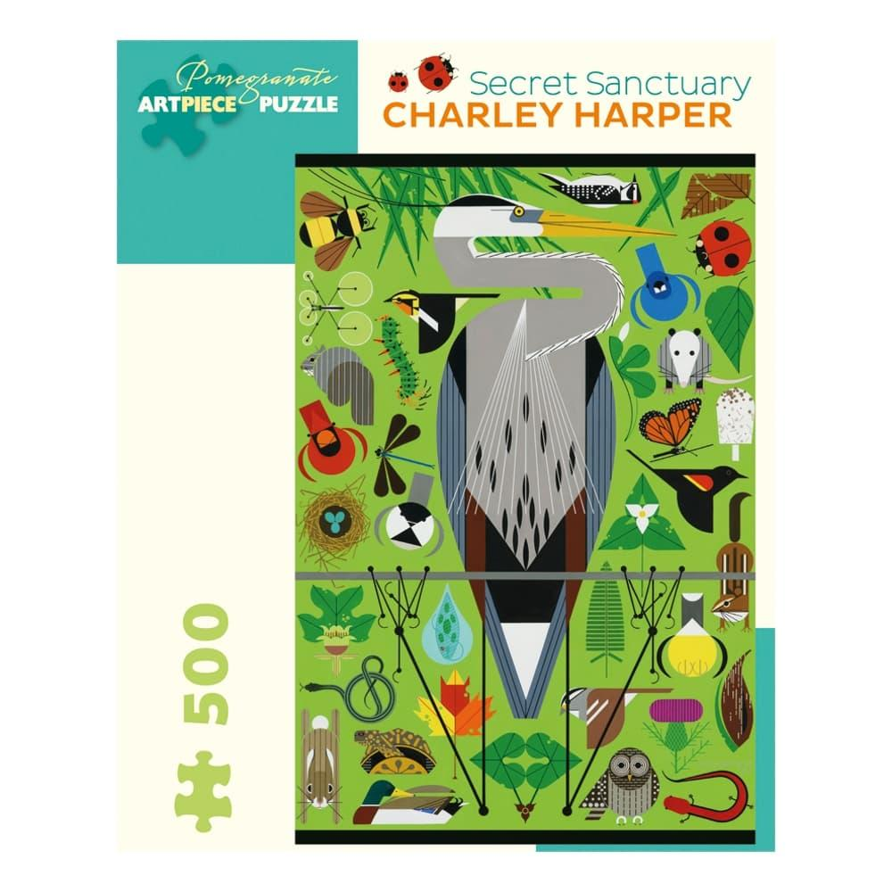 Pomegranate Charley Harper : Secret Sanctuary 500- Piece Jigsaw Puzzle