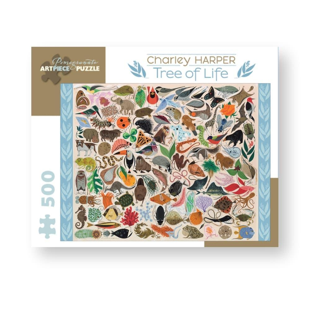 Pomegranate Charley Harper : Tree Of Life 500- Piece Jigsaw Puzzle