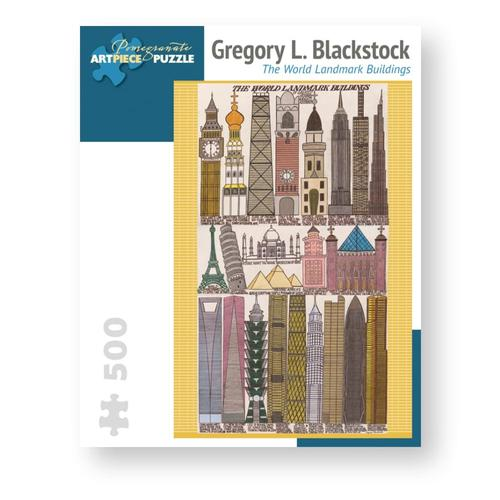 Pomegranate Gregory L. Blackstock: World Landmark Buildings 500-Piece Jigsaw Puzzle