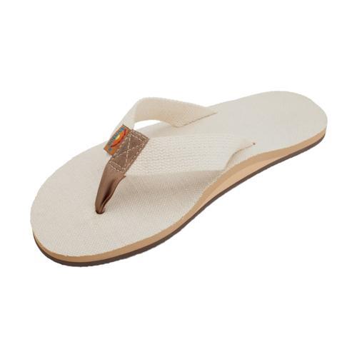 Rainbow Men's Single Layer Hemp Natural Sandals