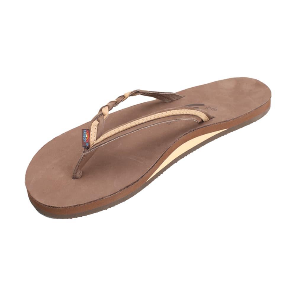 Rainbow Women's Single Layer Flirty Braidy Leather Sandals EXPRESSO