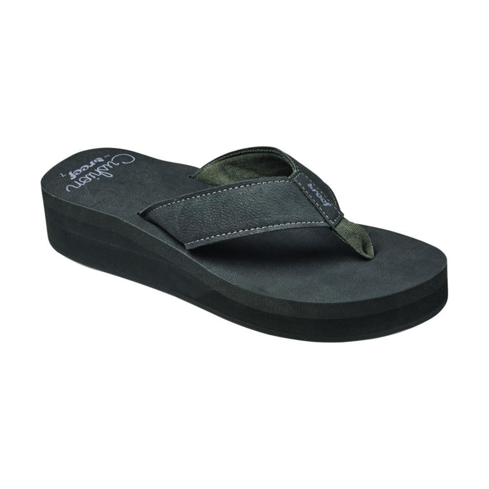 Reef Women's Cushion Butter Sandals BLACK