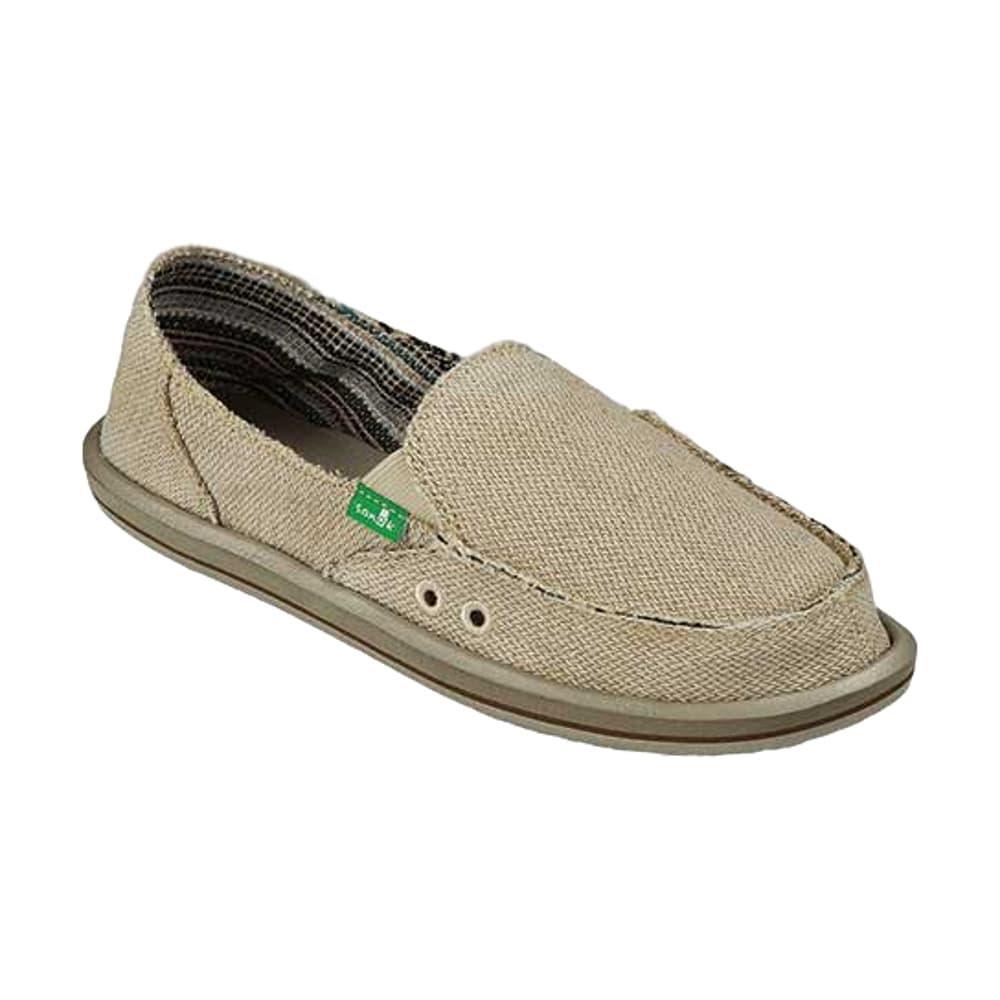 Sanuk Women's Donna Hemp Shoes NATURAL