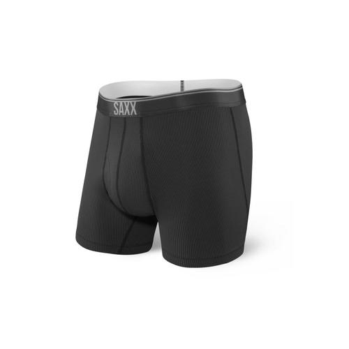 Saxx Men's Quest 2.0 Boxer Briefs Black