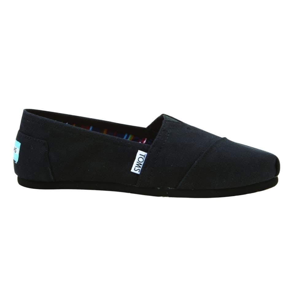 TOMS Women's Classic Canvas Shoes BLACK