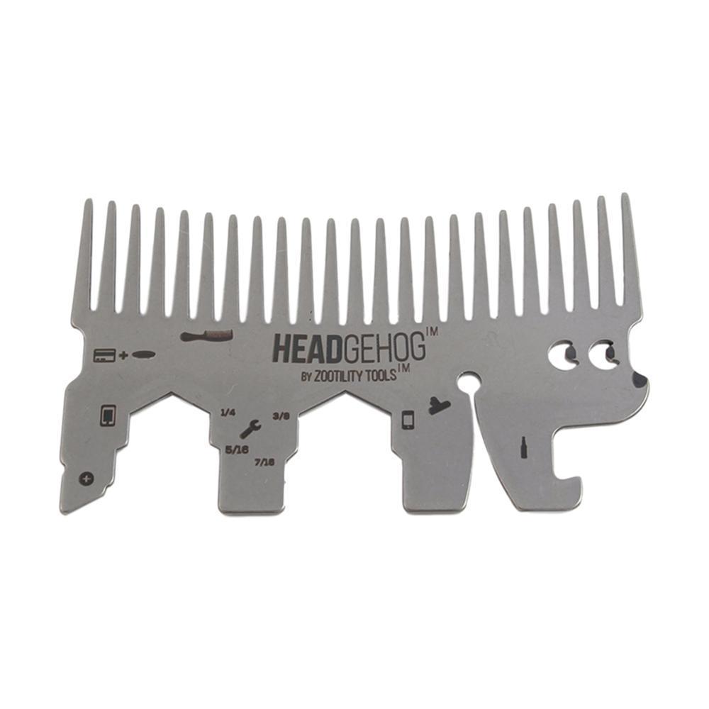 Zootility Headgehog Wallet Comb Utility Tool
