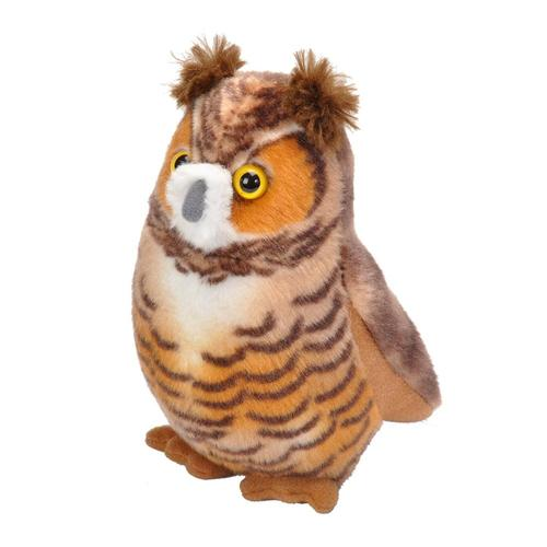 Wildlife Republic Audubon Birds Great Horned Owl Plush Bird With Sound