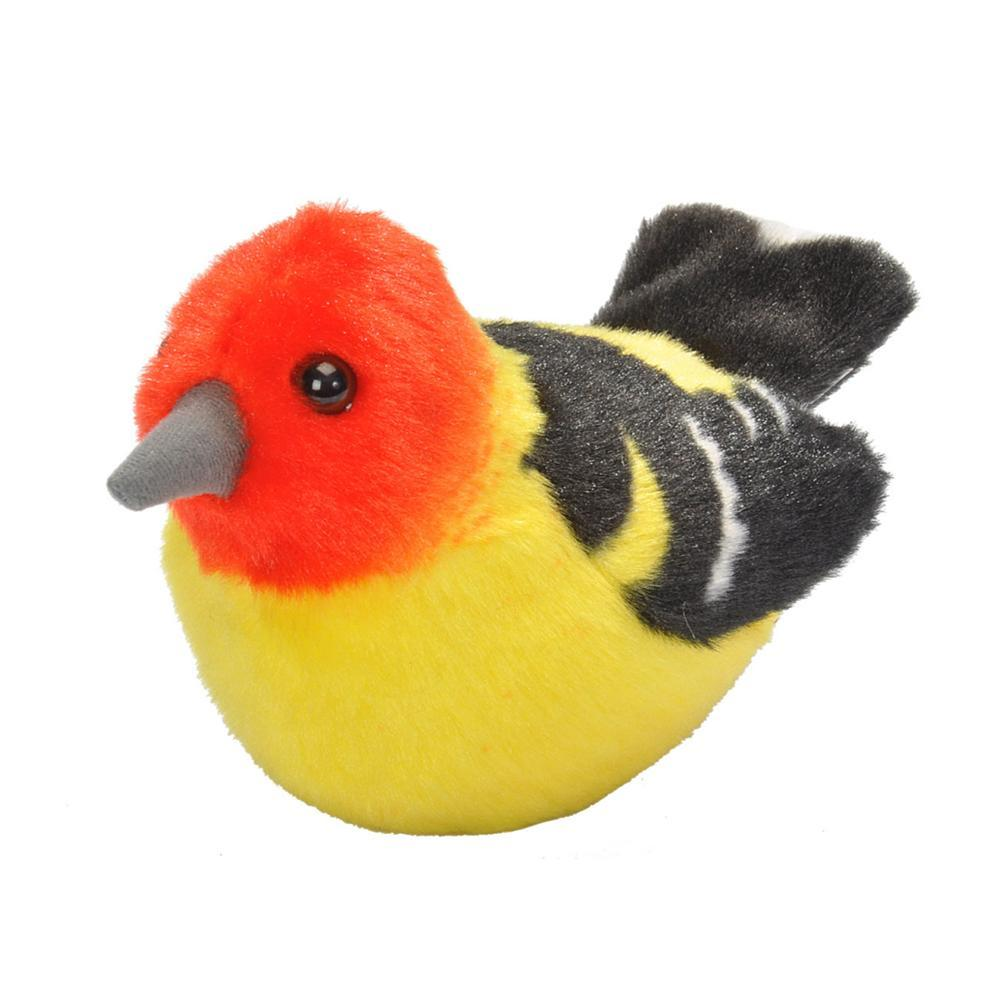 Wildlife Republic Audubon Birds Western Tanager Plush Bird With Sound