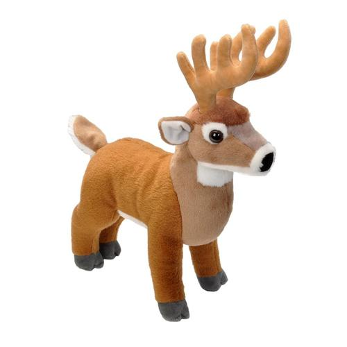 Wild Republic Cuddlekins 12in White Tail Buck Stuffed Animal