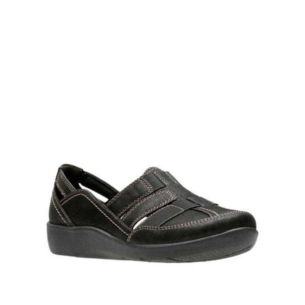 Clarks Women's Sillian Stork Shoes BLACK