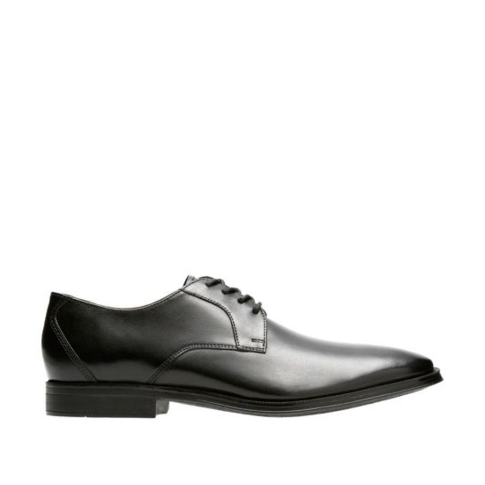 Clarks Gilman Lace Oxford Shoes BLACK