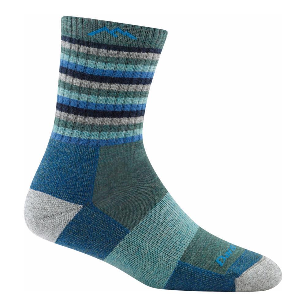 Darn Tough Women's Stripes Micro Crew Cushion Socks AQUASTRIPE