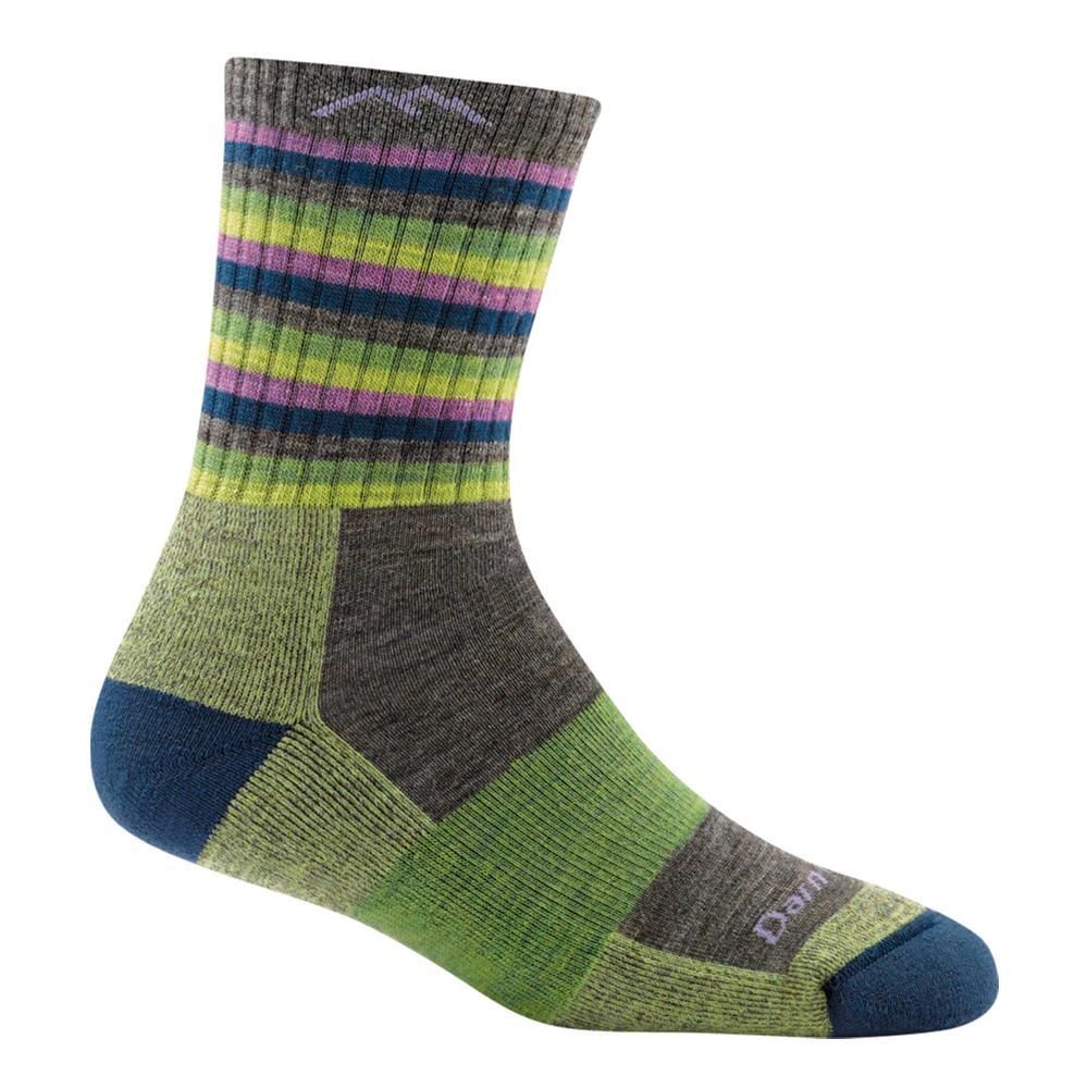 Darn Tough Women's Stripes Micro Crew Cushion Socks LIMESTRIPE