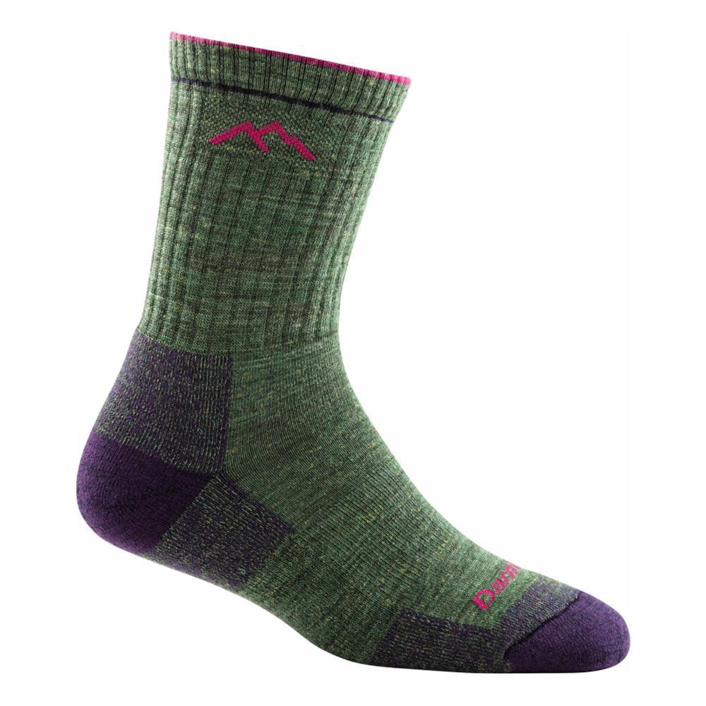 Darn Tough Women's Hiker Coolmax Micro Crew Cushion Socks MOSSHEATHER