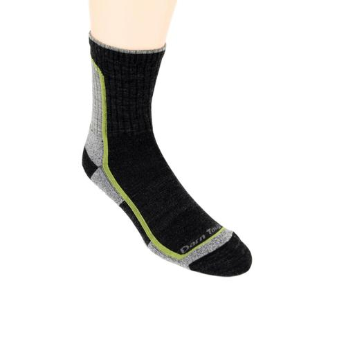 Darn Tough Men's Light Hiker Micro Crew Light Cushion Socks Charcoallime