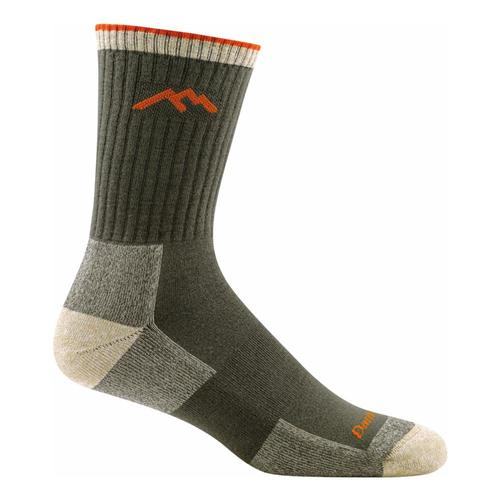 Darn Tough Men's Coolmax Hiker Micro Crew Cushion Socks Olive