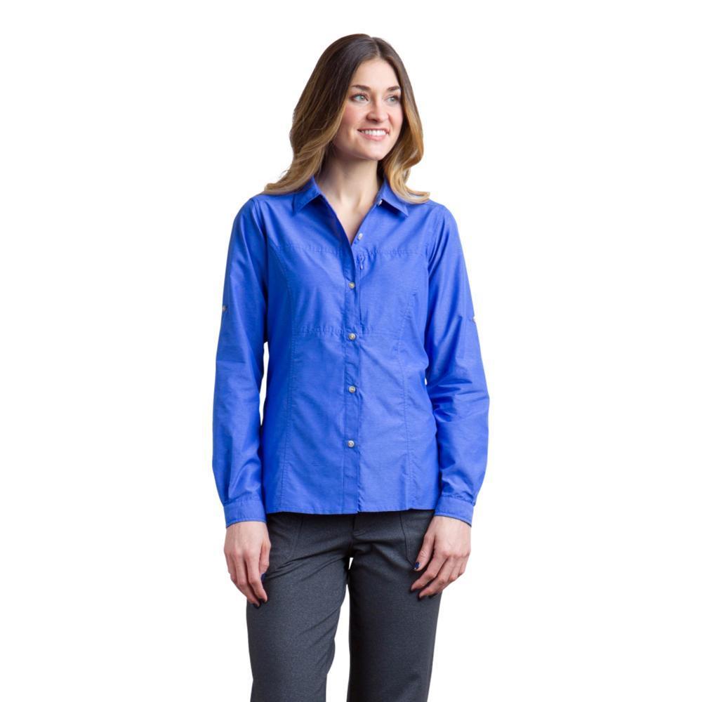 ExOfficio Women's Lightscape Long Sleeve Shirt CAPRIBLUE