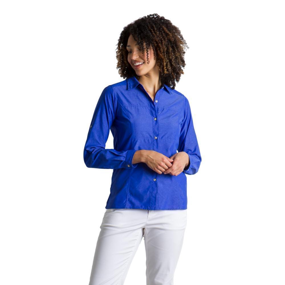 ExOfficio Women's Lightscape Long Sleeve Shirt LOBELIA