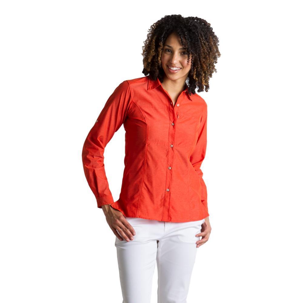 ExOfficio Women's Lightscape Long Sleeve Shirt PAPRIKA