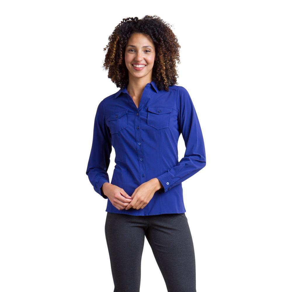 ExOfficio Women's Kizmet Long Sleeve Shirt BLUEPRINT