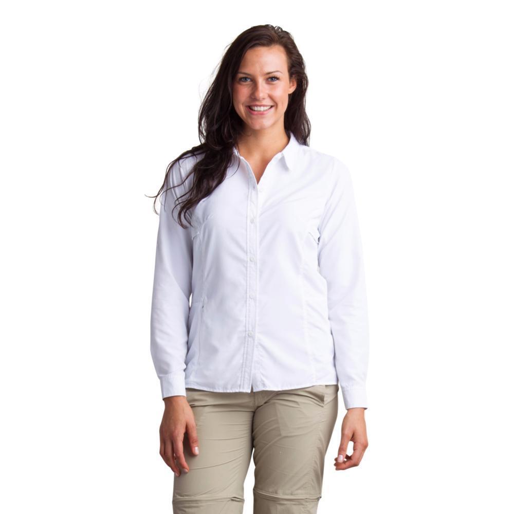 ExOfficio Women's BugsAway Viento Long Sleeve Shirt WHITE
