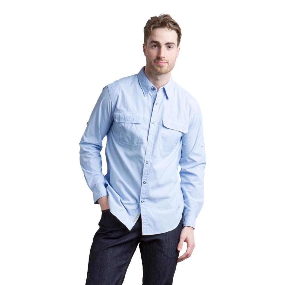 ExOfficio Men's Bugsaway Halo Stripe Long Sleeve Shirt CHAMBRAY
