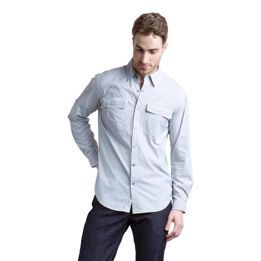 ExOfficio Men's Bugsaway Halo Stripe Long Sleeve Shirt SLATE
