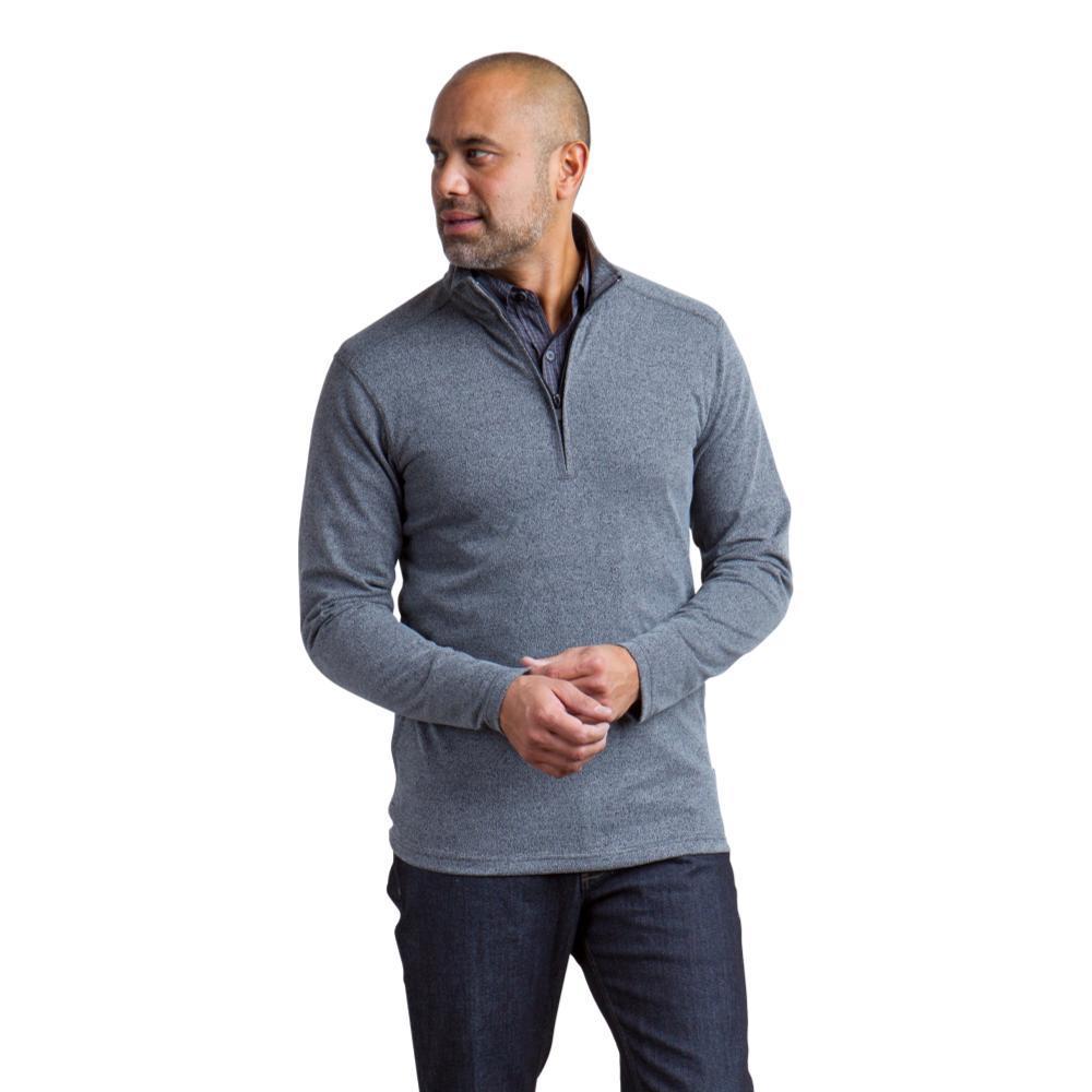 ExOfficio Men's Powell 1/4 Zip LS Shirt BLACK