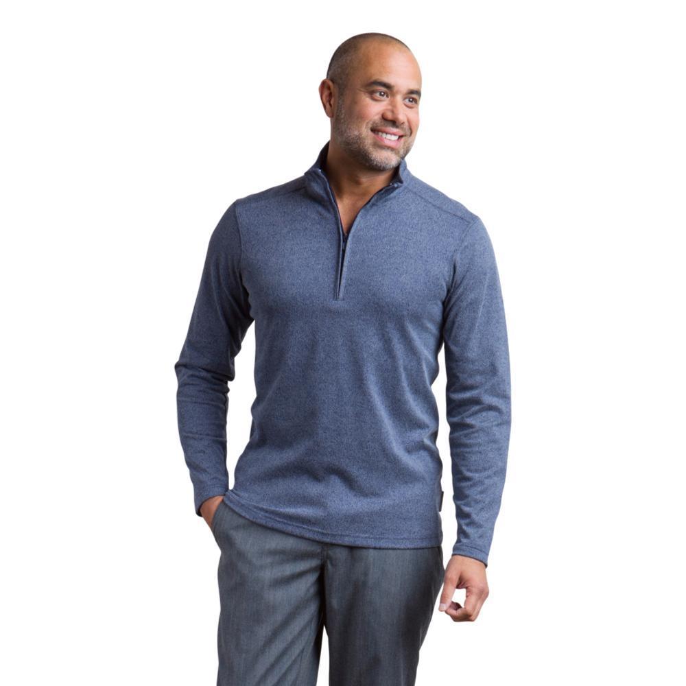 ExOfficio Men's Powell 1/4 Zip LS Shirt NAVY