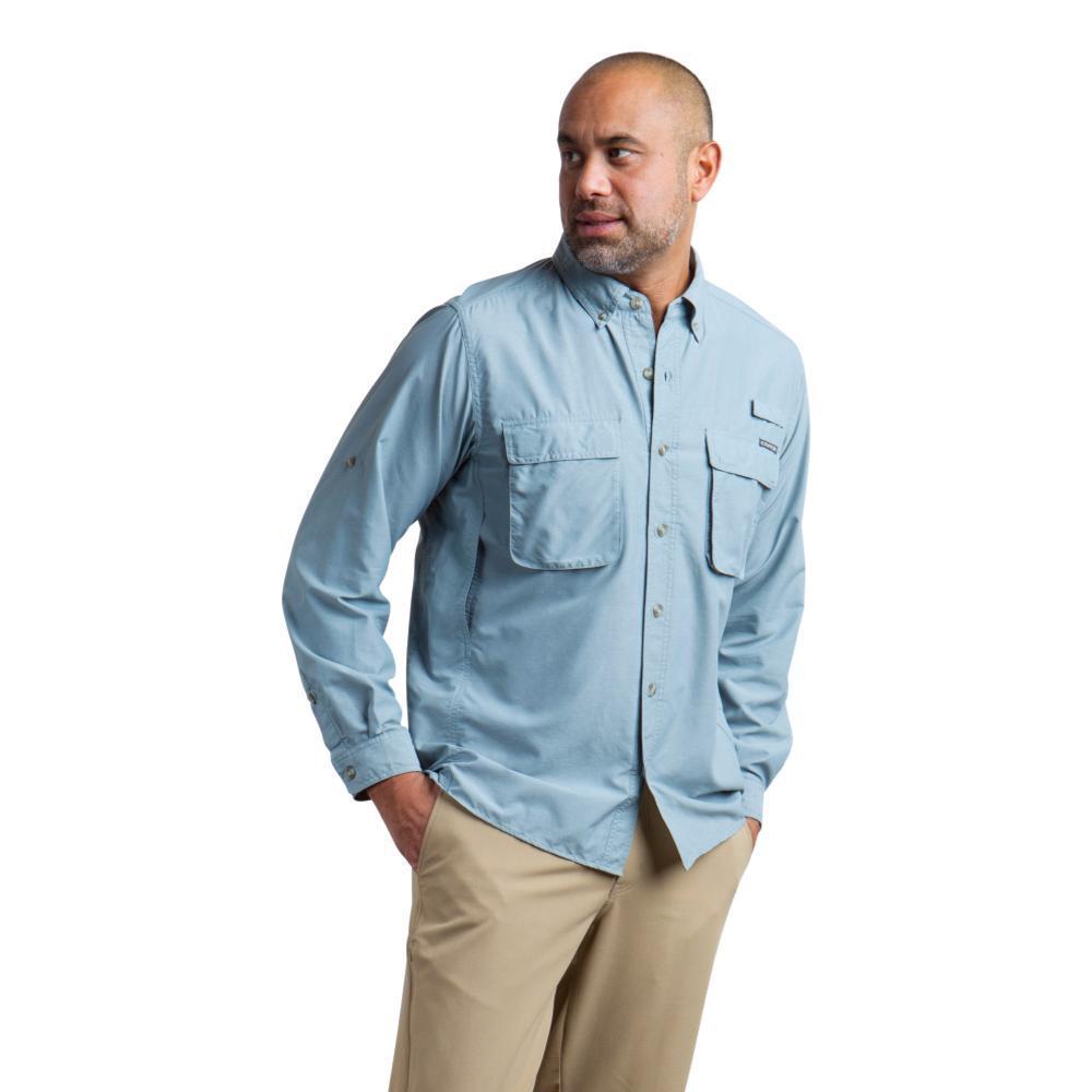 ExOfficio Men's Air Strip LS Shirt BLUELEAD