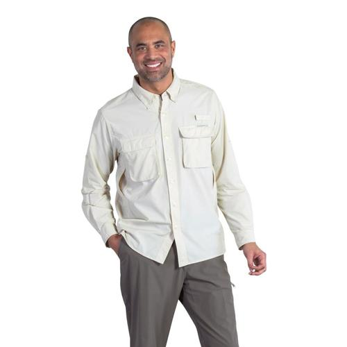 ExOfficio Men's Air Strip LS Shirt Bone
