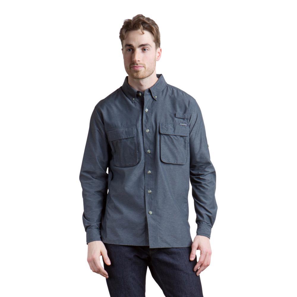 ExOfficio Men's Air Strip LS Shirt DKPEBBLE