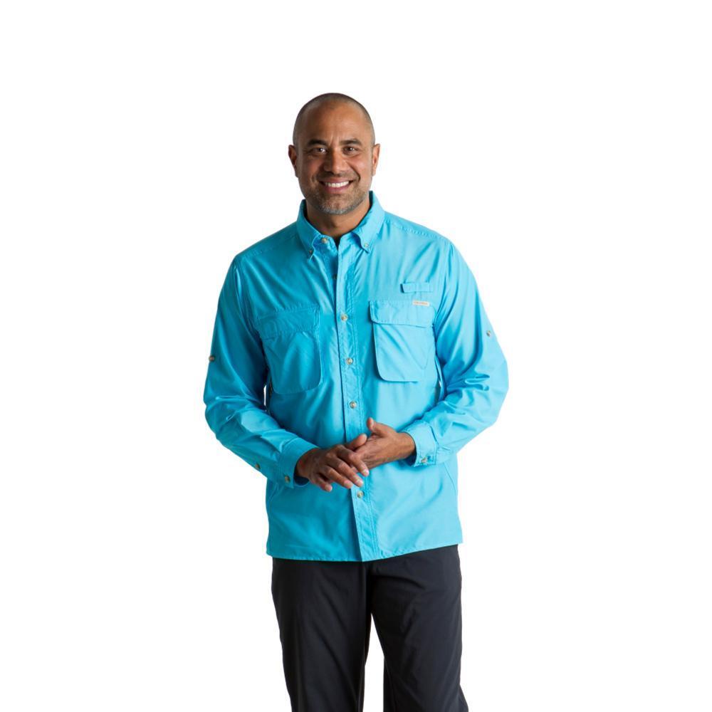 ExOfficio Men's Air Strip LS Shirt RIVERBLUE