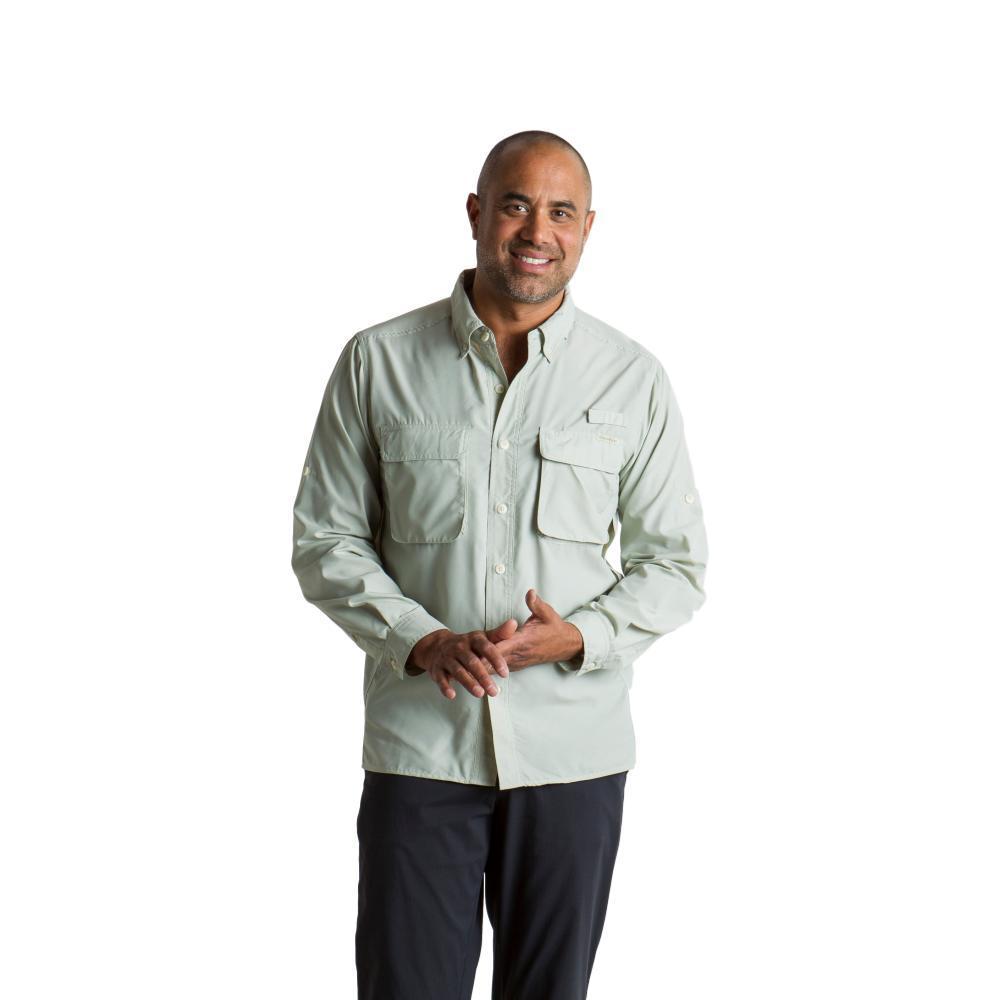 ExOfficio Men's Air Strip LS Shirt SAGEGREY