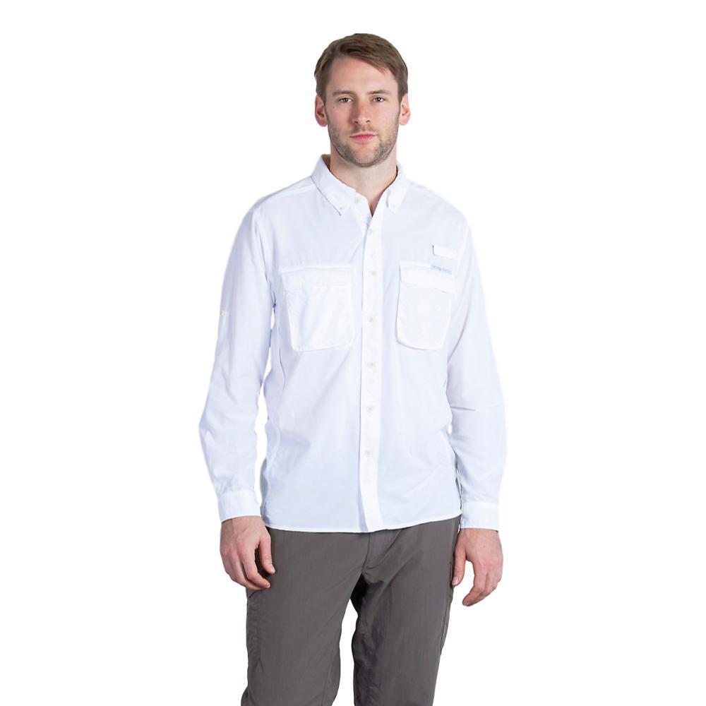 ExOfficio Men's Air Strip LS Shirt WHITE