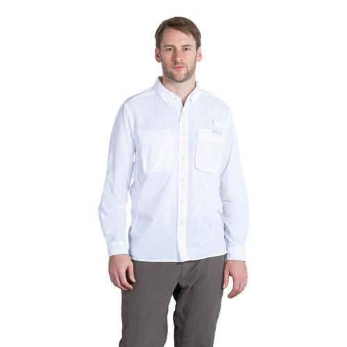 ExOfficio Men's Air Strip LS Shirt White