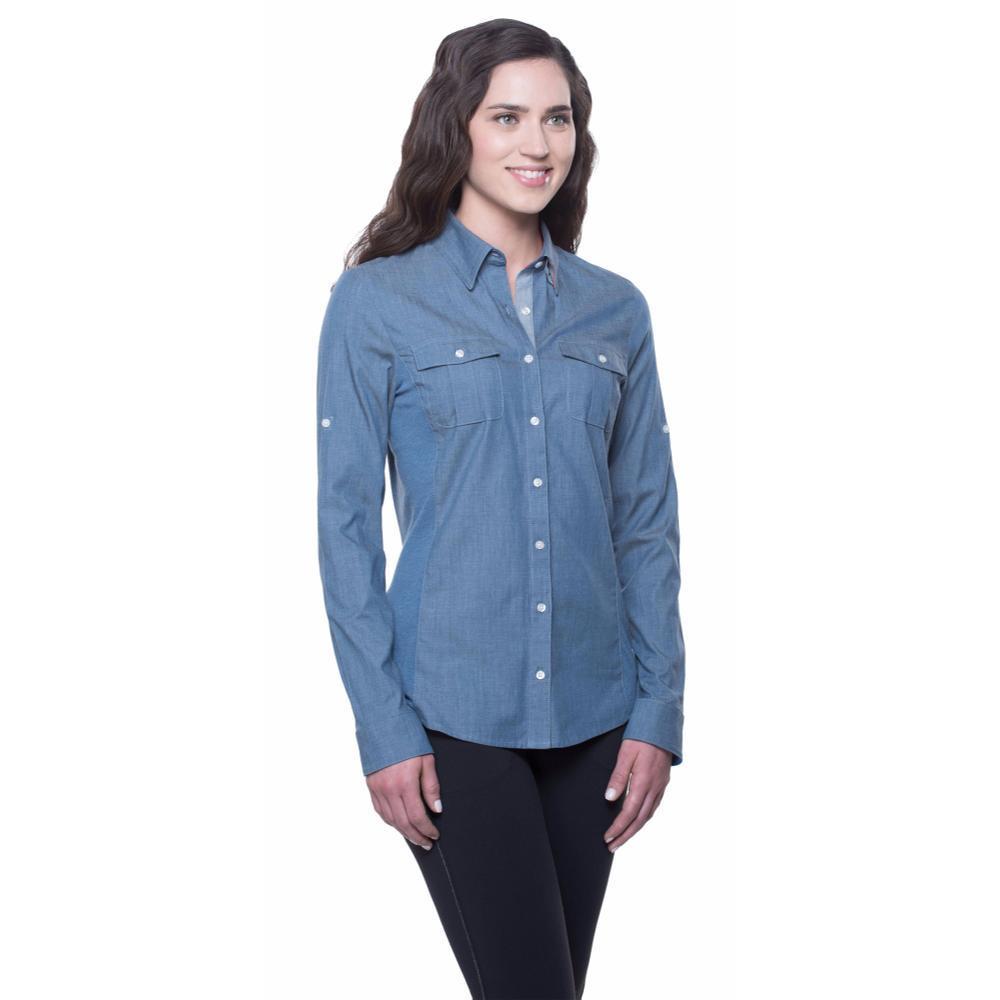 Kuhl Women's Kiley Long Sleeve Shirt DENIMBLUE