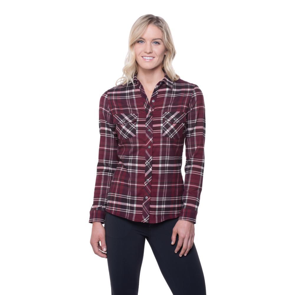 Kuhl Women's Greta Flannel Shirt GARNET