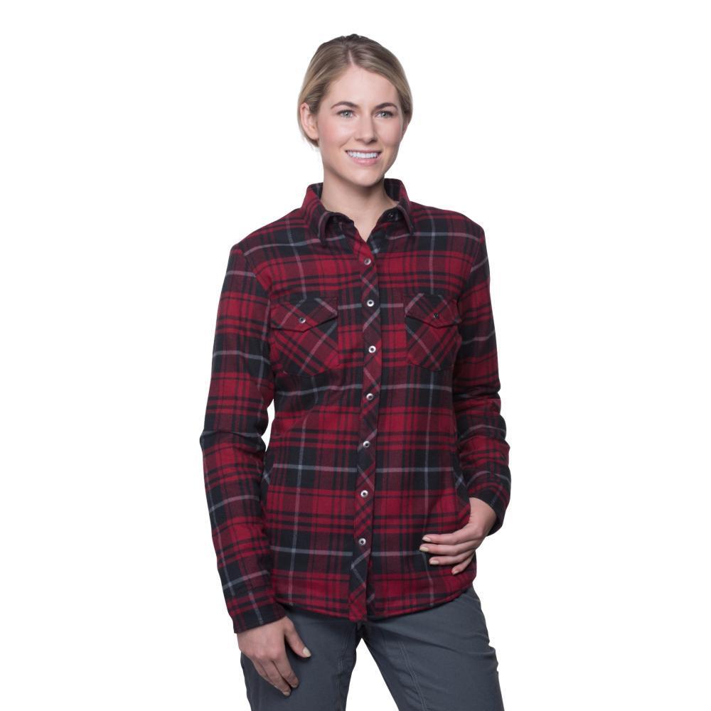 Kuhl Women's Kota Lined Flannel Shirt GARNET