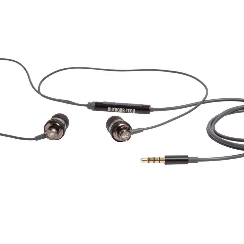 Outdoor Tech Minnows Wired Earbuds With Mic BLACK