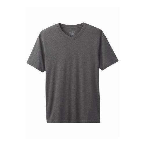 prAna Men's Prana V-Neck Shirt Charcoal