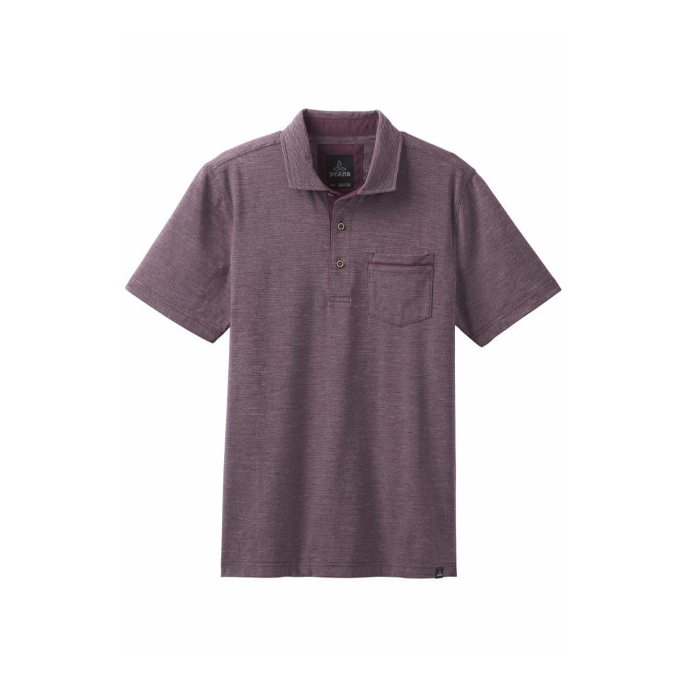 prAna Men's Pacer Polo DKPLUM