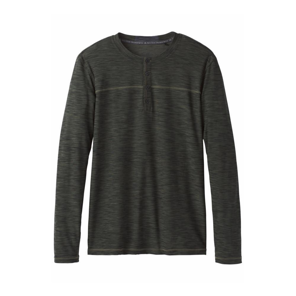 prAna Men's Zylo Henley Shirt CARGREEN