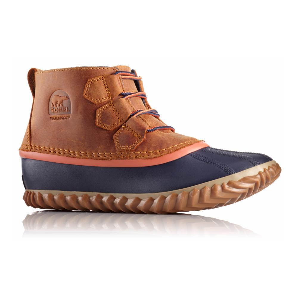 Sorel Women's Out N About Leather Duck Boots CARAMEL