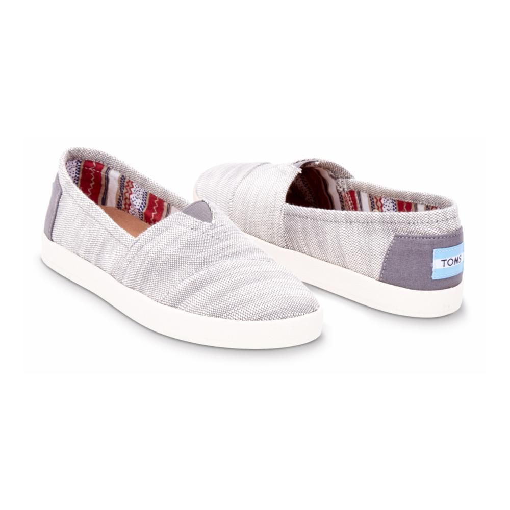 Toms Women's Woven Avalon Slip-on Sneakers GREYWOVEN